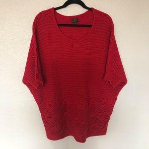Worthington Red Dolman sleeve Sweater XL